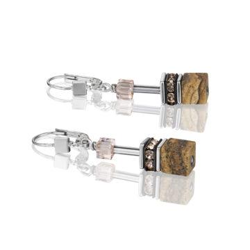 coeur de lion crystal geocube drop earrings