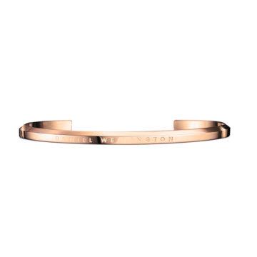 rose gold plated daniel wellington cuff size large diamond jewellers