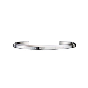 silver plated daniel wellington cuff size small diamond jewellers