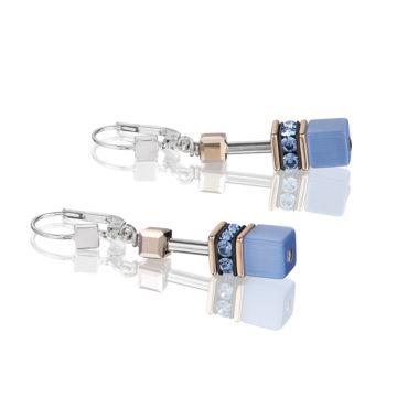 coeur de lion royal blue and brown geocube earrings diamond jewellers