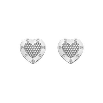 hot diamonds earrings sterling silver heart earrings set with diamond diamond jewellers