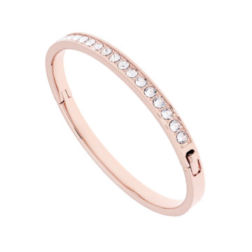 ted baker rose gold plated hinged bangle with clear stones diamond jewelers