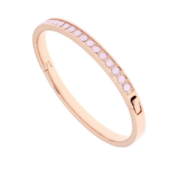 ted baker rose gold plated hinged bangle with pink stones diamond jewellers