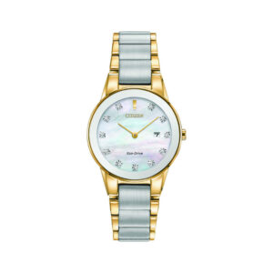 chrome-and-gold-colour-citizen-eco-drive-watch-diamond-jewellers