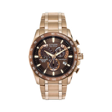 rose-gold-bracelet-and-brown-dial-Citizen-watch-diamond-jewellers