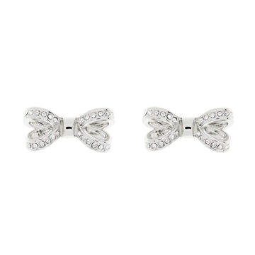 Ted Baker Silver Bow Earrings