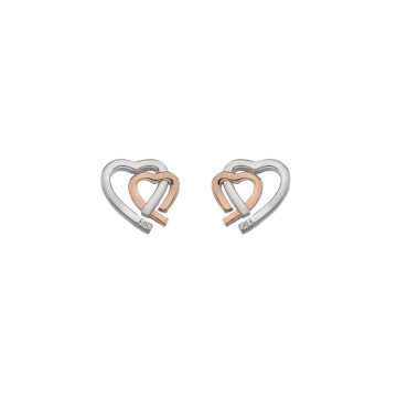 affordable diamond heart earrings