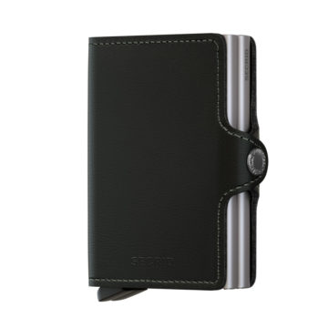 black leather rfid credit card by secrid