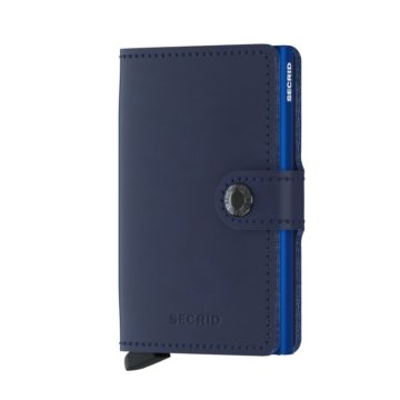 navy leather rfid wallet