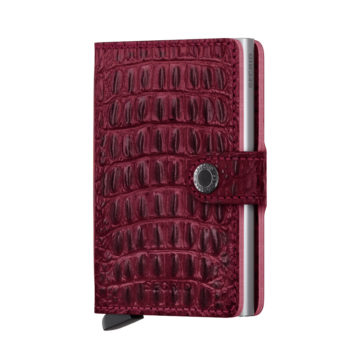 red leather rfid credit card holder