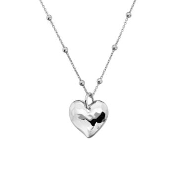 sterling silver necklace with diamond