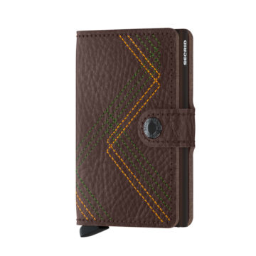 stitched leather rfid credit card holder