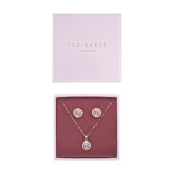 Ted Baker button earrings and pendant