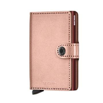 metallic rose rfid credit card holder
