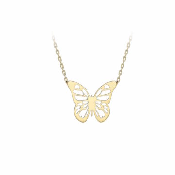 9ct yellow gold butterfly pendant