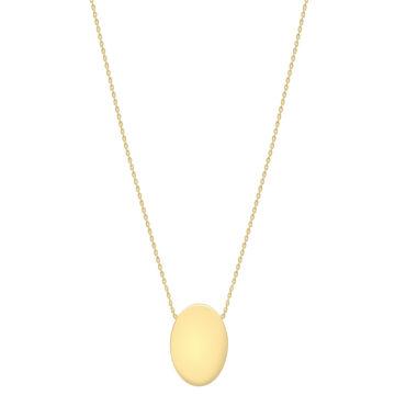 9ct yellow gold disc pendant
