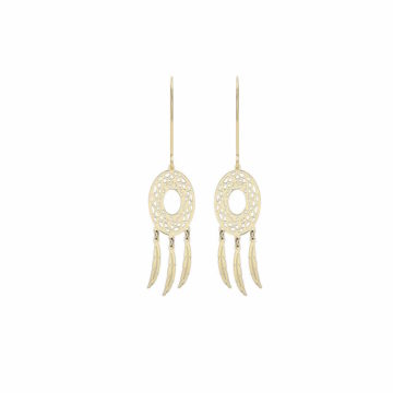 9ct yellow gold dreamcatcher earrings