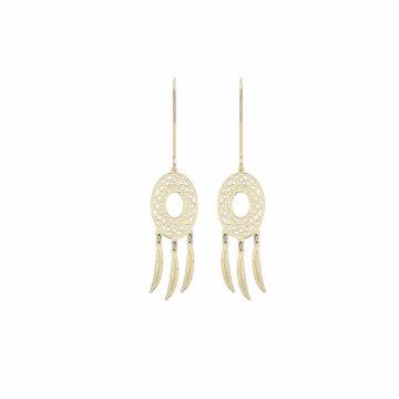 9ct yellow gold dreamcatcher earrings