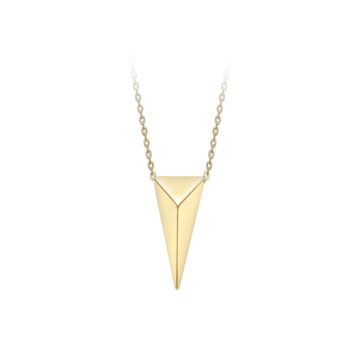 9ct yellow gold pyramid pendant