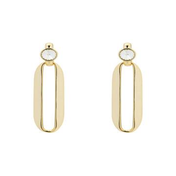 Karen Millen yellow gold plated earrings