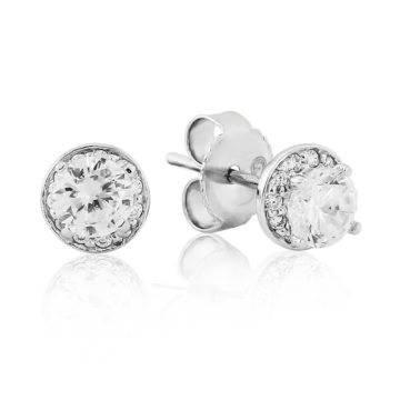 waterford silver earrings small cluster round stud including box john swan jewellers