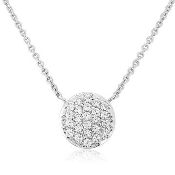 waterford silver white circle multi cubic zirconia disc john swan jewellers
