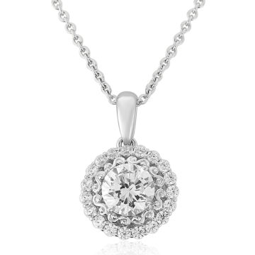 waterford sterling silver pendant white circle cubic zirconia including box john swan jewellers