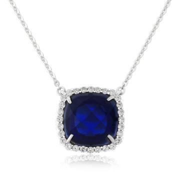waterford sterling silver pendant white saphire cubic zirconia including box john swan jewellers