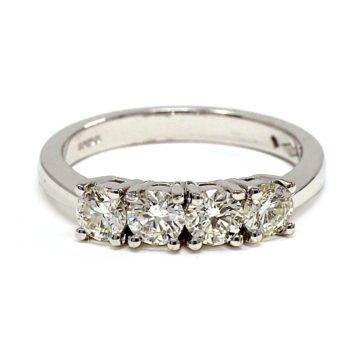 18ct white gold diamond engagement ring john swan jewellers arklow