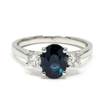 18ct white gold sapphire and diamond ring john swan jewellers arklow