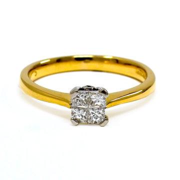18ct yellow gold diamond engagement ring john swan jewellers arklow