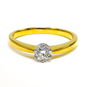 18ct yellow gold solitaire diamond engagement ring arklow john swan jewellers