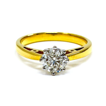 18ct yellow gold solitaire diamond engagement ring john swan jewellers