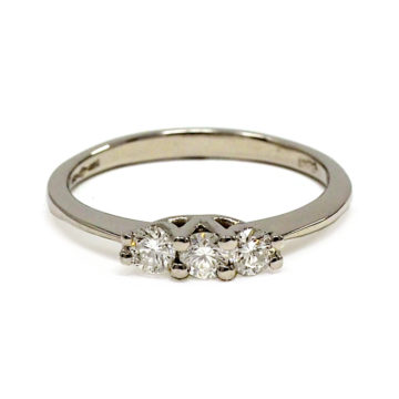 platinum trilogy diamond engagement ring john swan jewellers