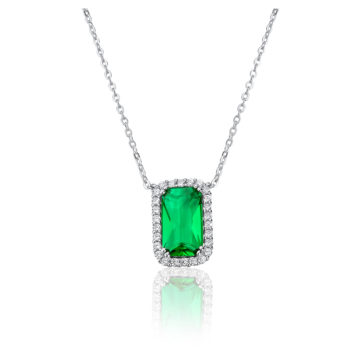 waterford silver octagon emerald pendant john swan jewellers arklow