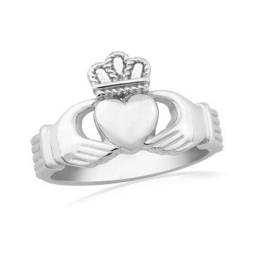 waterford silver ring plain claddagh john swan jewellers arklow