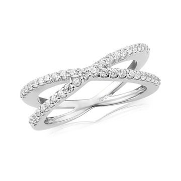waterford silver ring white cubic zirconia crossover john swan jewellers arklow