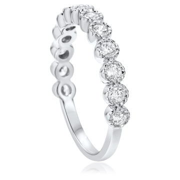 waterford silver rubover eternity ring white cubic zirconia john swan jewellers arklow