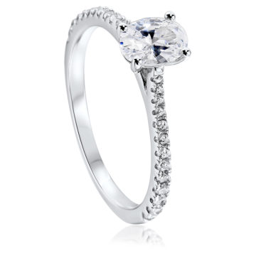 waterford silver solitaire ring white cubic zirconia john swan jewellers arklow
