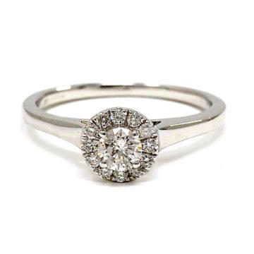 18ct white gold diamond engagement ring arklow john swan jewellers
