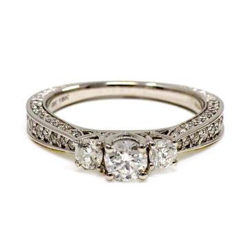 18ct white gold diamond ring john swan jewellers arklow