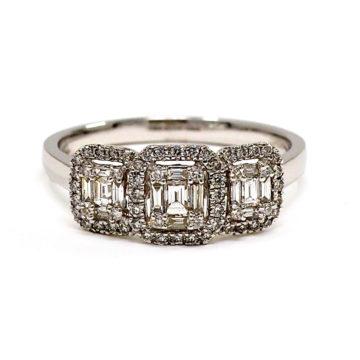 18ct white gold diamond trilogy engagement ring john swan jewellers
