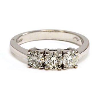 18ct white gold diamond trilogy ring arklow john swan jewellers