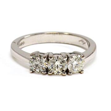 18ct white gold diamond trilogy ring arklow john swan jewellers