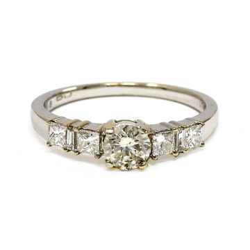 18ct white gold diamond trilogy ring john swan jewellers arklow