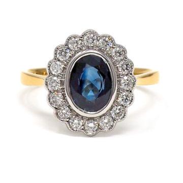 18ct yellow gold sapphire and diamond ring john swan jewellers arklow