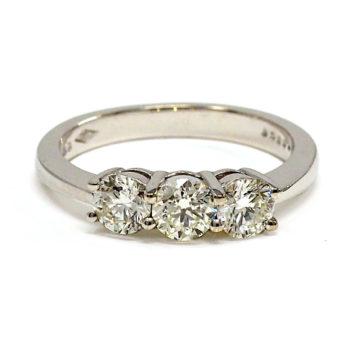 white gold diamond engagement ring john swan jewellers arklow
