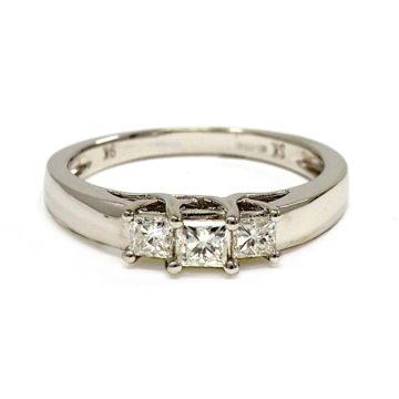 white gold diamond trilogy engagement ring john swan jewellers arklow