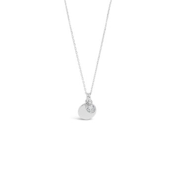 april diamond birthstone necklace