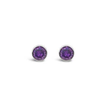birthstone earring february azara john swan jewellers